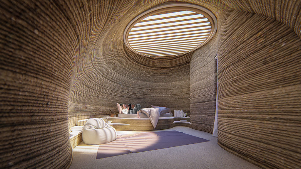 3D Baskı Evler: Ev içi düzenlenmiş uyku alanı