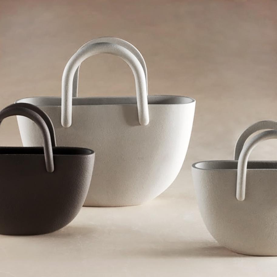 lineasette vase vaso borsa vm572 arch design