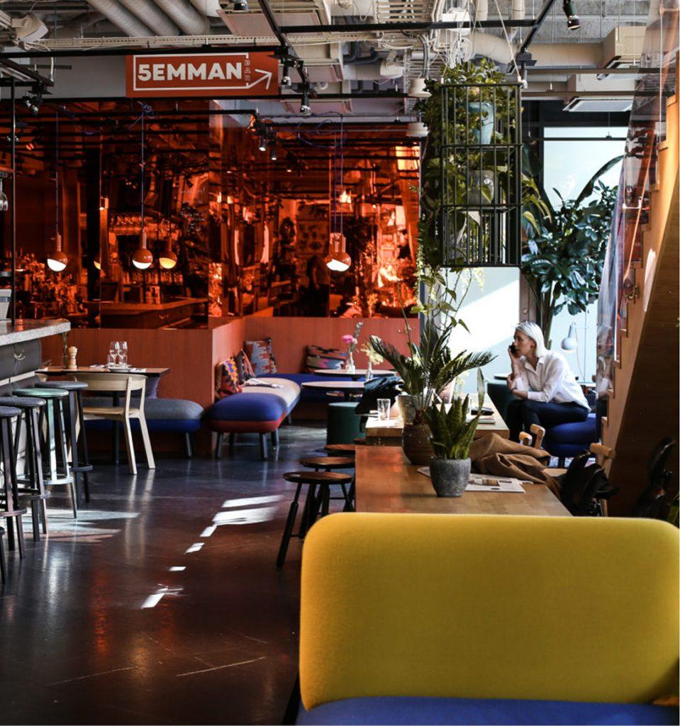 hobo hotel stockholm bar restaurant couch coliving