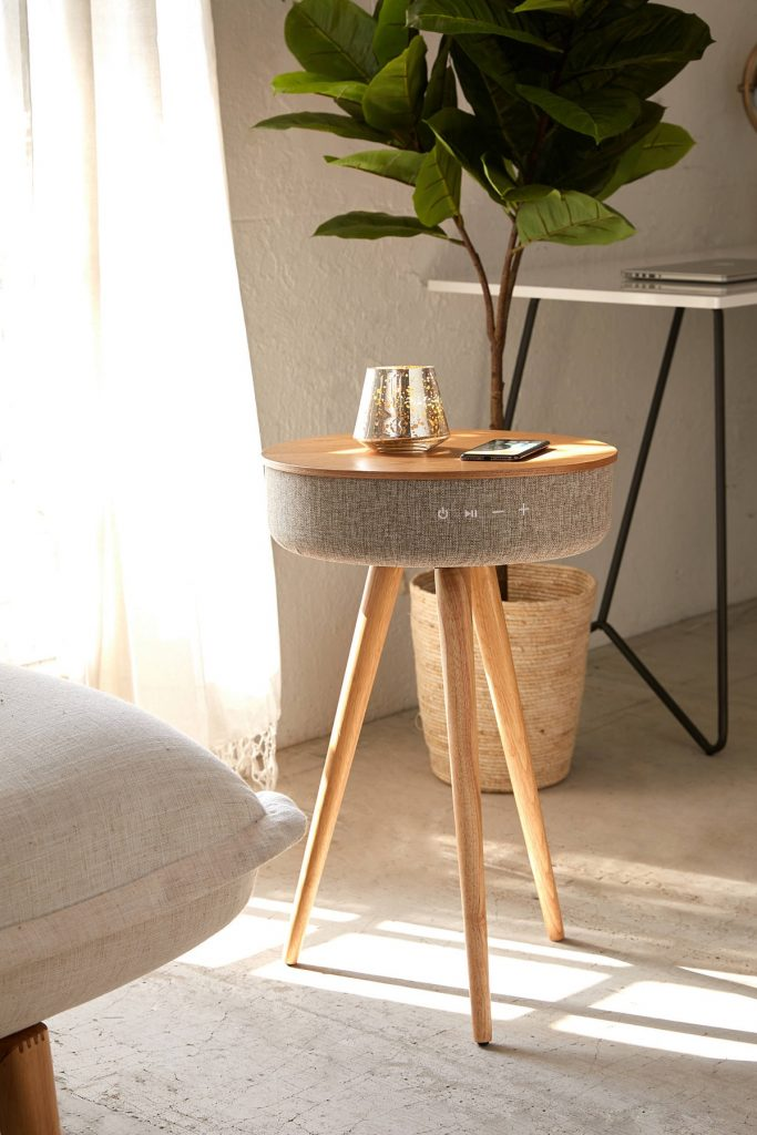 side table with built in speaker